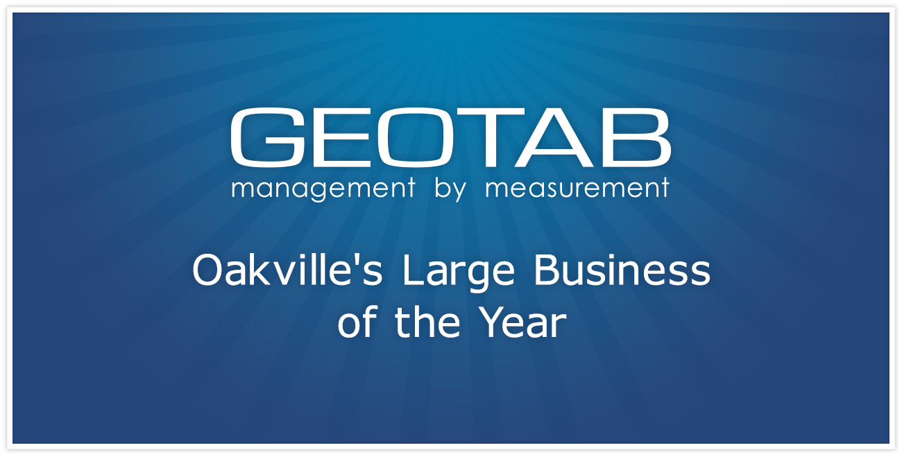 Geotab Awarded Oakville's Large Business of the Year