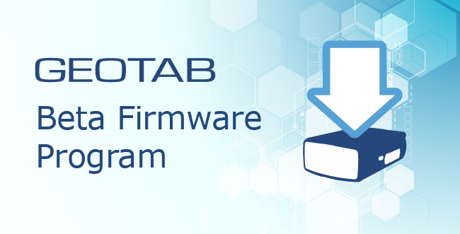 Geotab Beta Firmware Program with animated Go Device with an arrow pointing down on top of the device