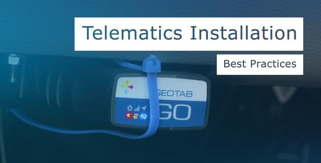 Geotab GO Device installed in vehicle with blue zip tie