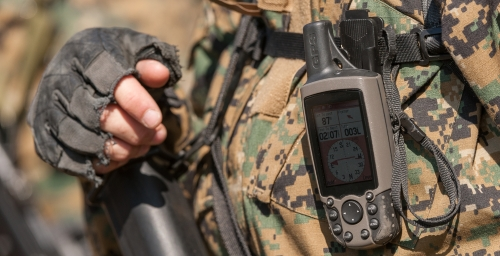 A soldier's GPS device