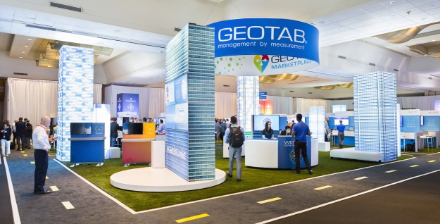 Geotab kiosk at Connect 2018