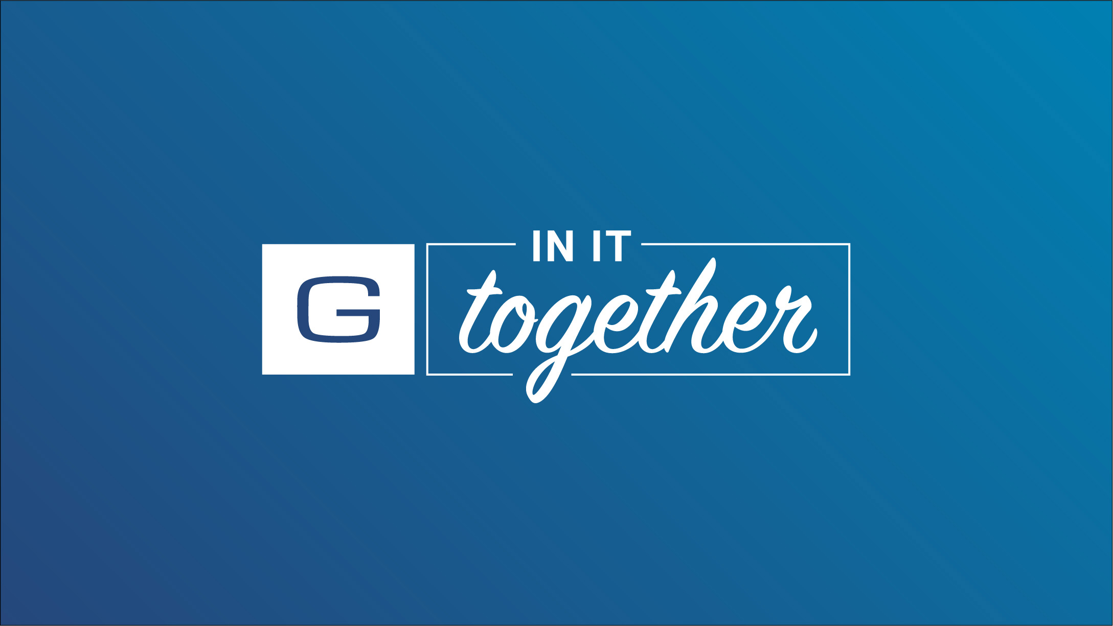 Geotab in it together logo on blue background