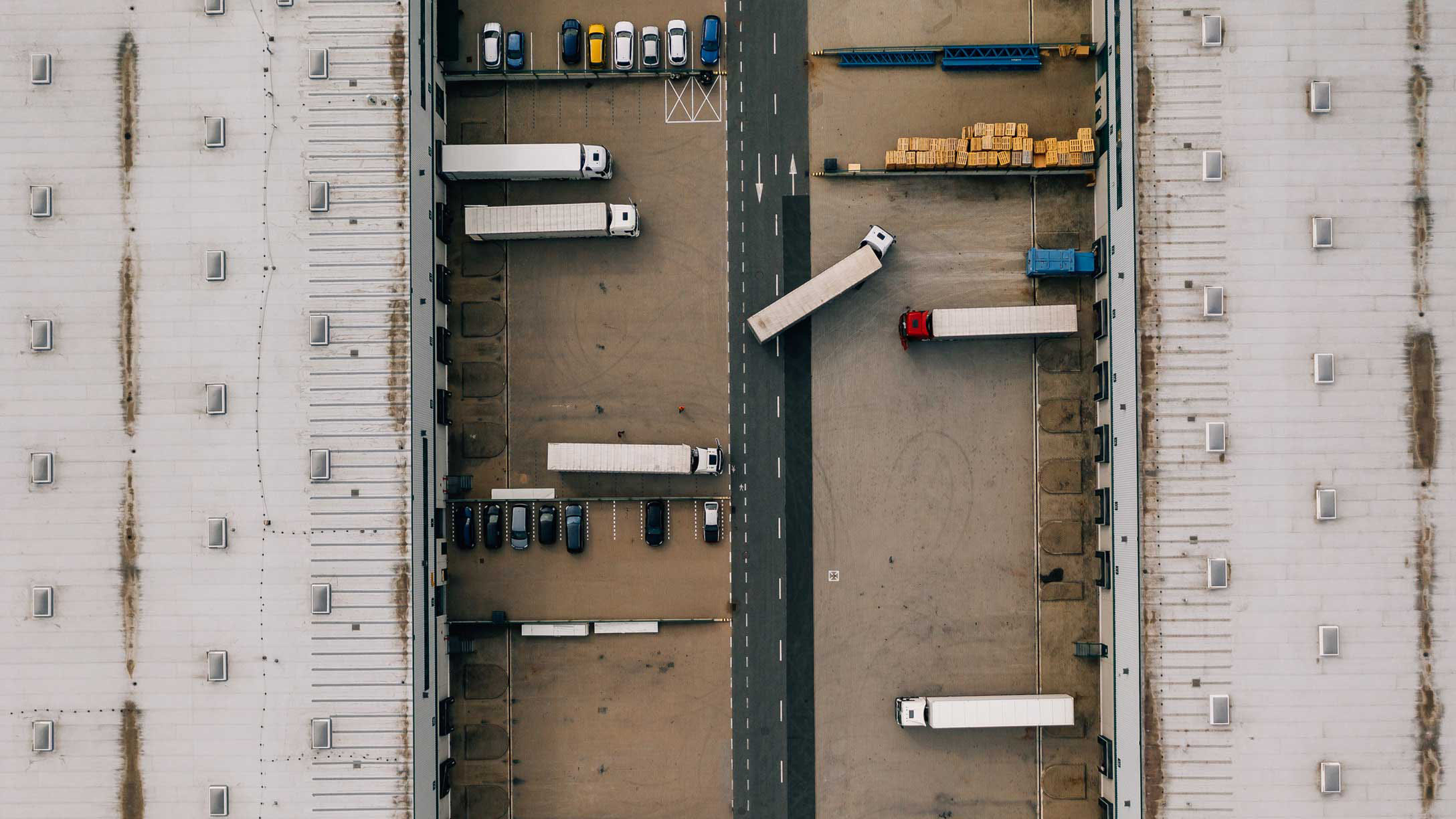 Deploying telematics in large fleets in a parking lot