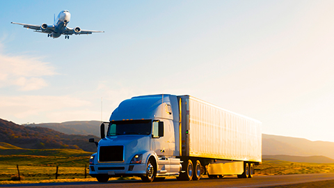 Transportation recovery truck and plane