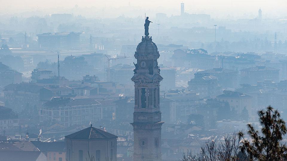 City with smog