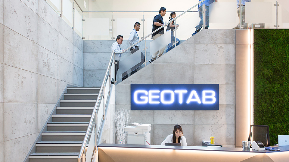 Geotab reception desk