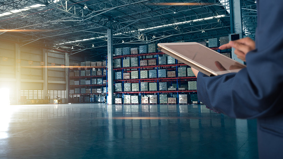 Warehouse and a supply chain manager.