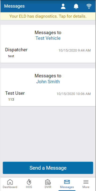 Drive App messaging