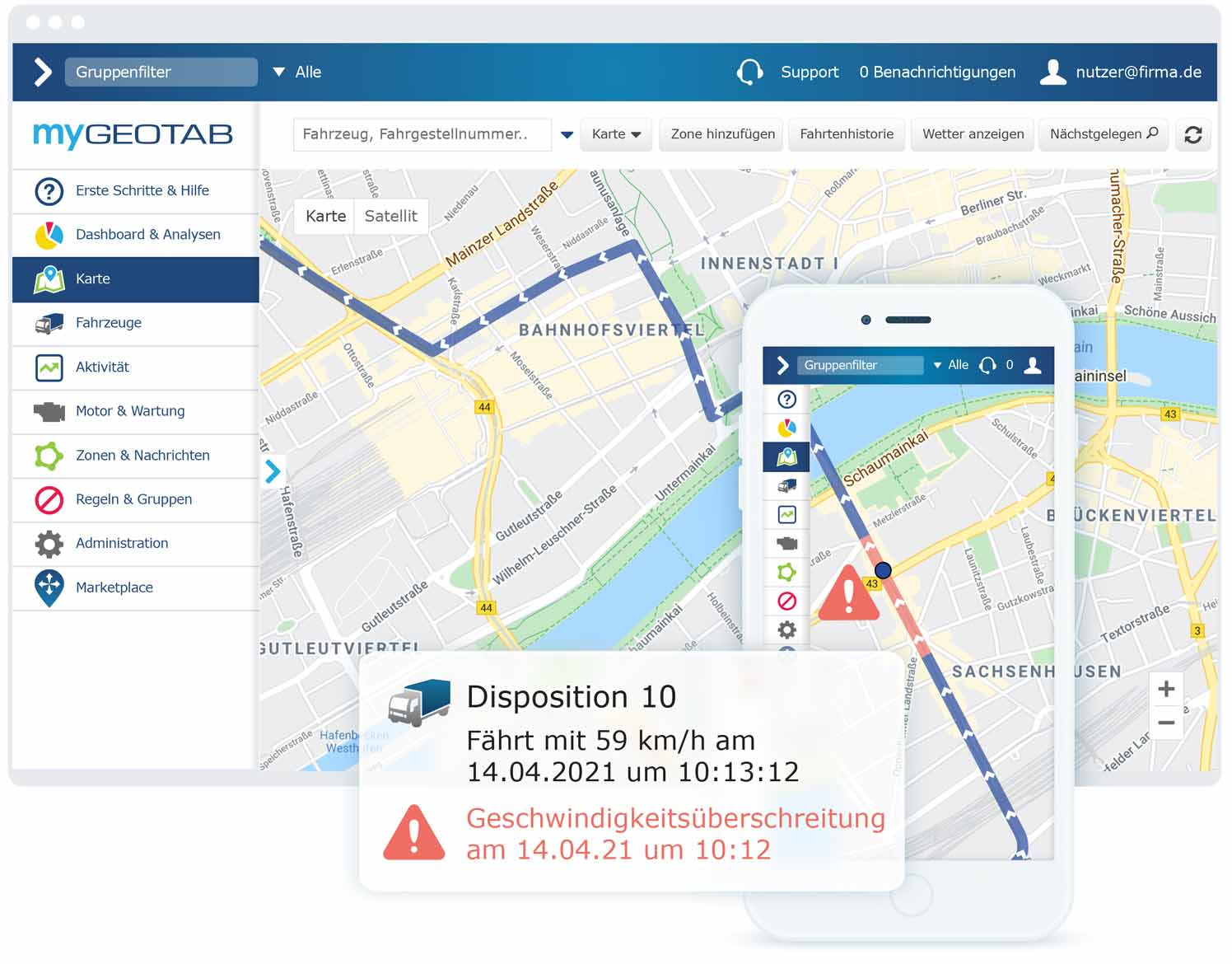 MyGeotab-Tracking-Dashboard