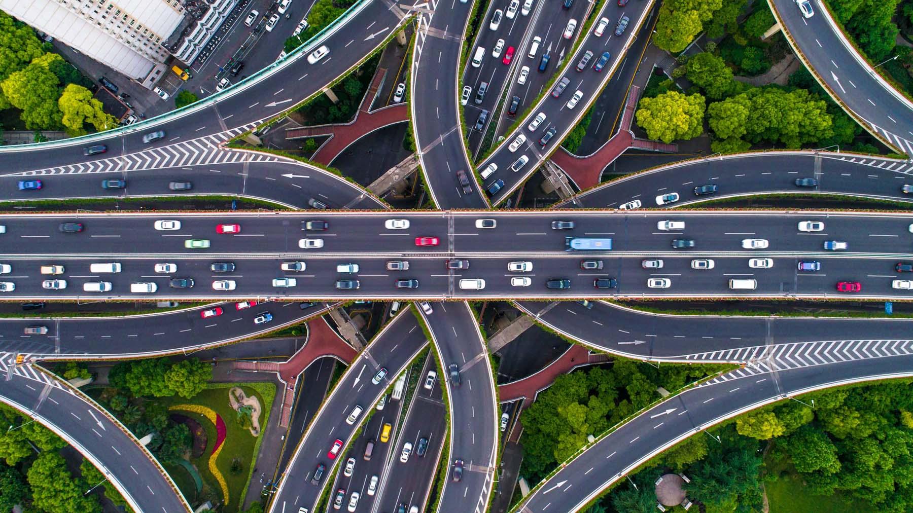 Carreteras con vehículos