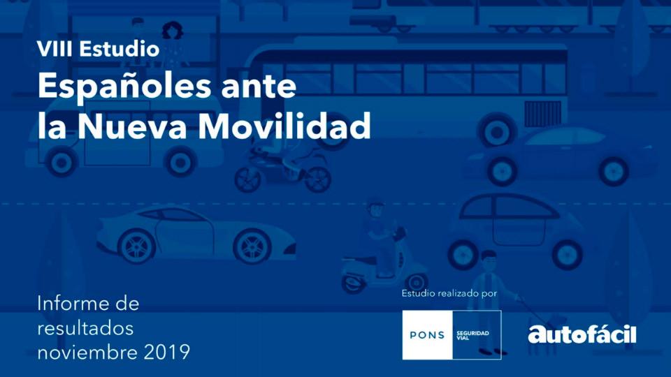 Caratula que anuncia el estudio realizado por PONS y Geotab sobre los españoles ante la nueva movilidad