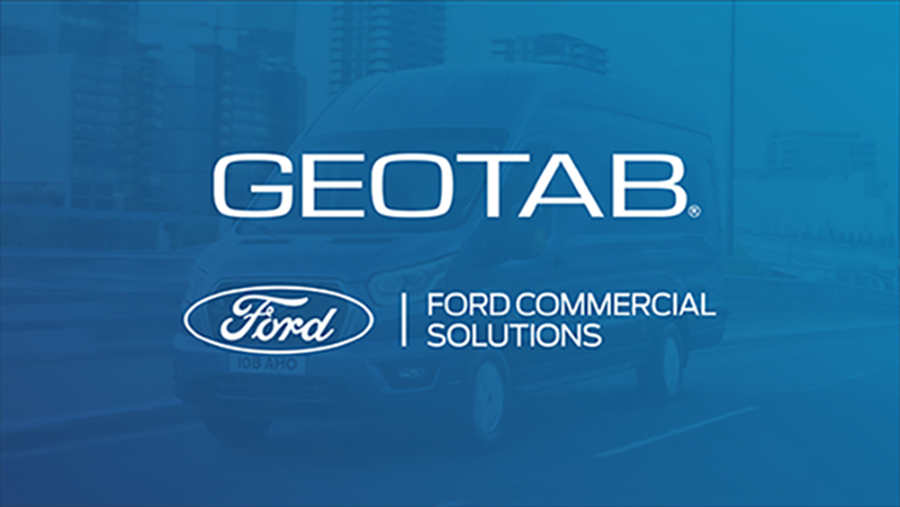 L'immagine mostra i loghi Ford Van e Ford e Geotab