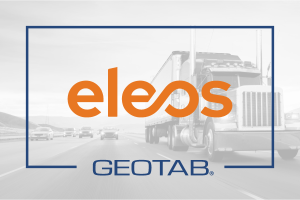 Eleos logo on grey background