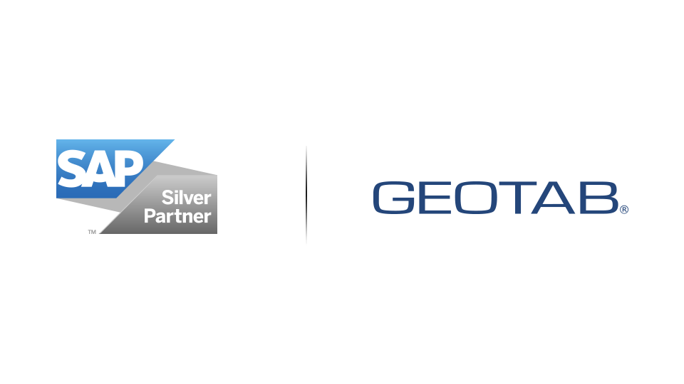 SAP Silver Partner logo and Geotab logo