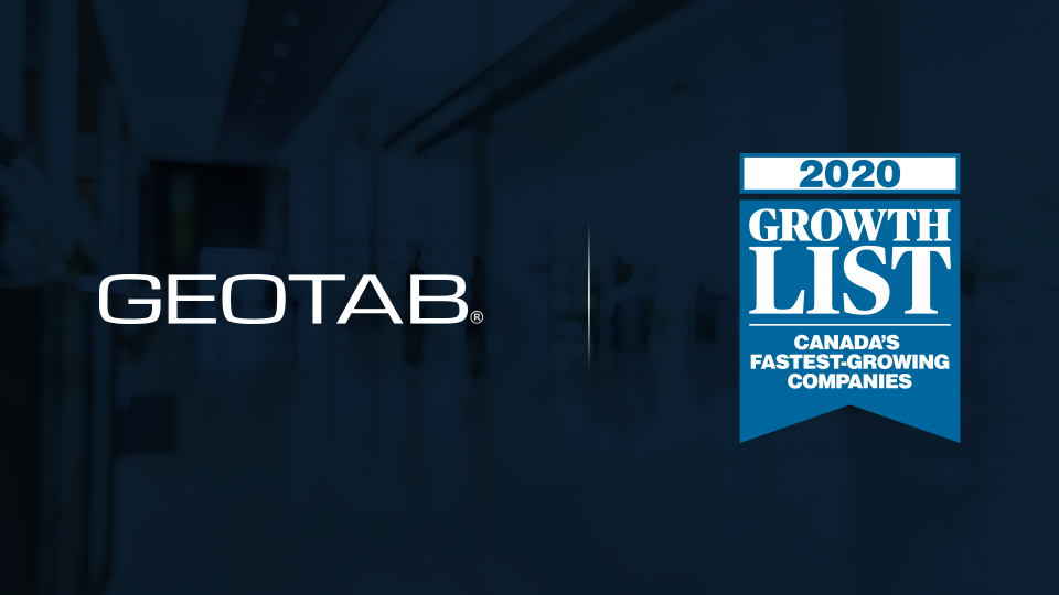 Geotab and growth list logos