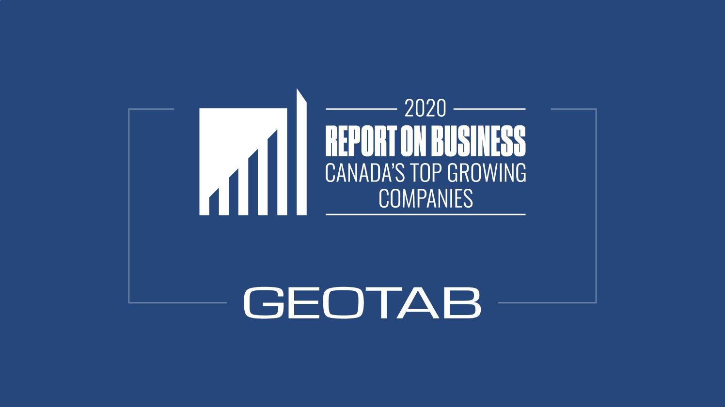 Top Growing Company and Geotab Logos