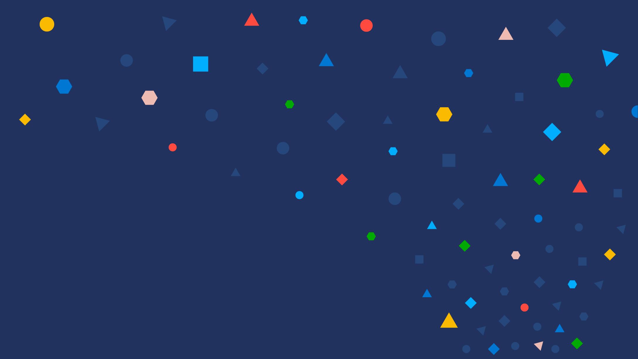 Dark blue background with colored confetti
