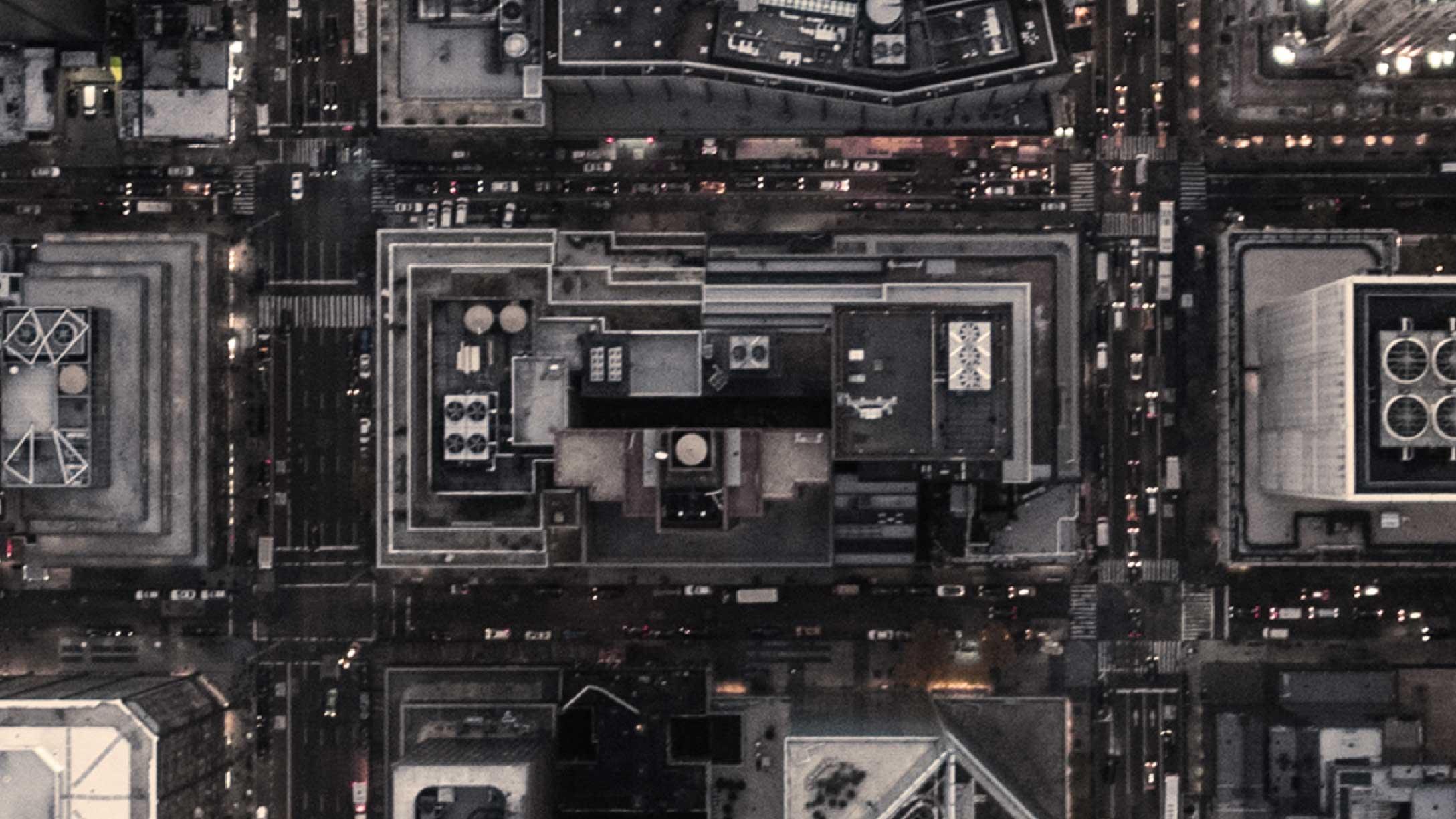 Birds eye view of a city