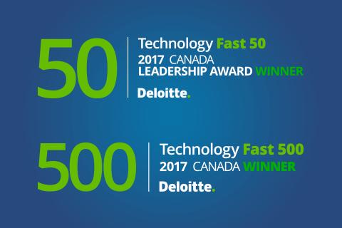 Deloitte Technology Fast 50 2017 Leadership Award logo