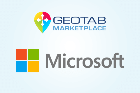 Geotab Marketplace and Microsoft logos