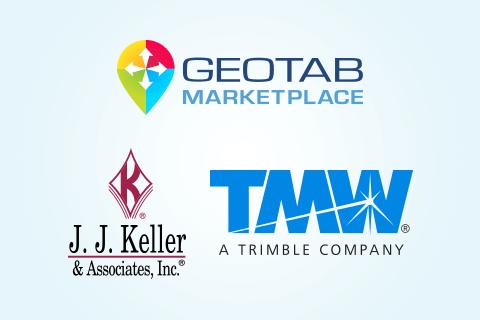 TMW, J.J. Keller & Geotab Marketplace logos