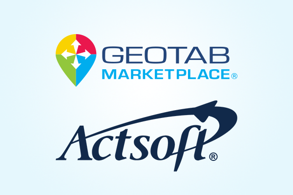 Geotab Marketplace and Actsoft logo