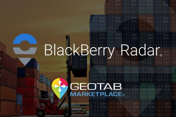 Blackberry Radar and Geotab Marketplace logos