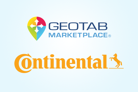 geotab marketplace and continental logo