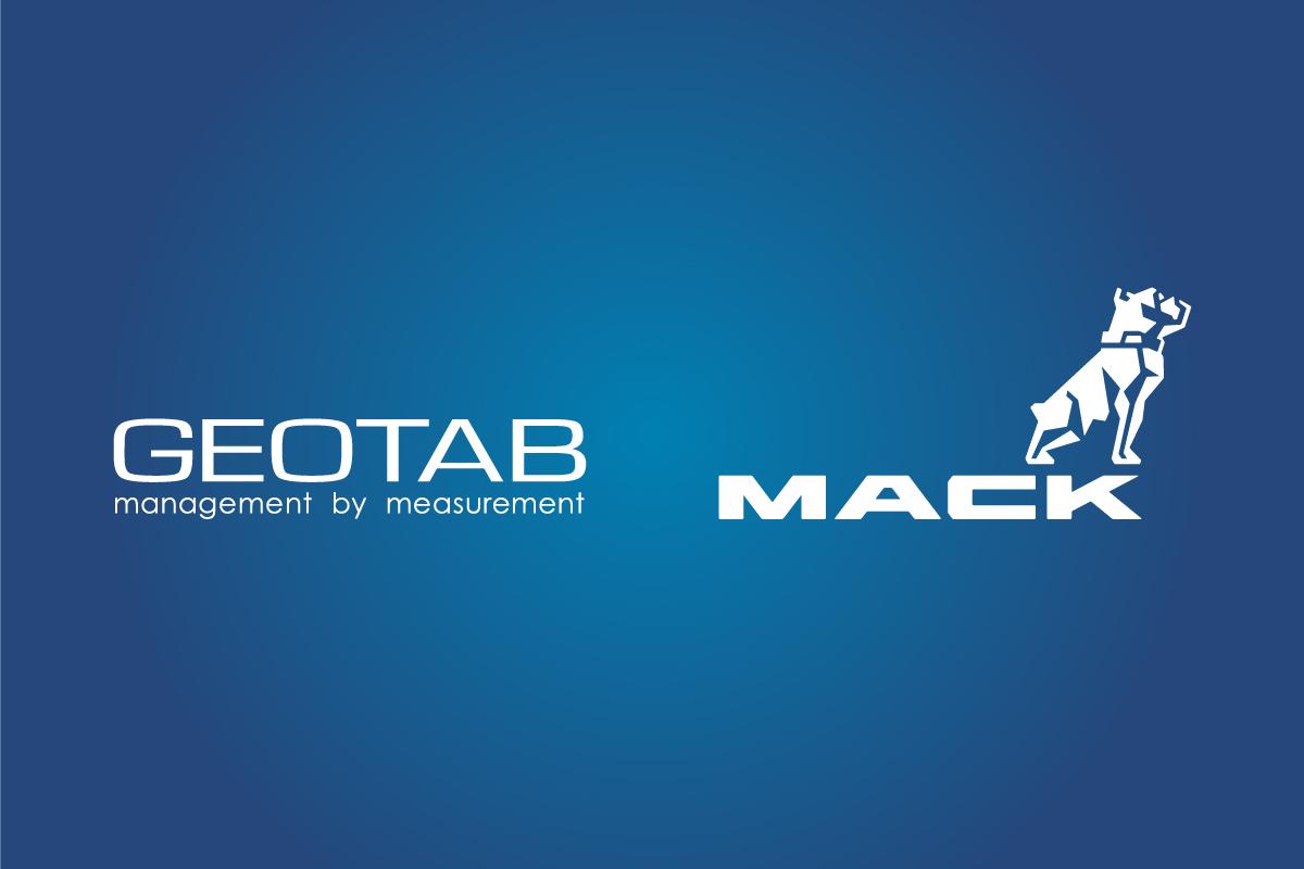 geotab and mack trucks logo
