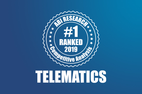 top commercial telematics provider worldwide by ABI Research logo