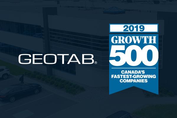 2019 Growth 500 List and Geotab logo