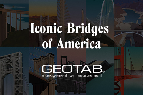 Iconic Bridges of America and Geotab logo
