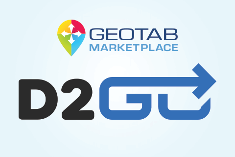 Geotab Marketplace and d2go solutions logo
