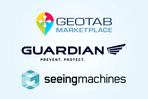 Geotab Marketplace, Guardian and Seeing machines logos