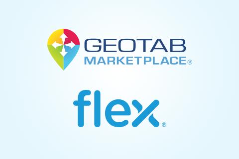 Geotab Marketplace logo and Flex logo