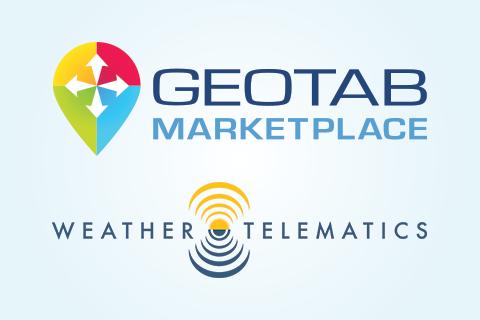 Geotab Marketplace and Weather Telematics logo