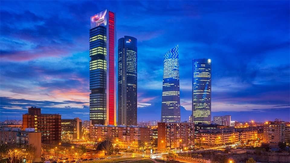 Madrid city skyline