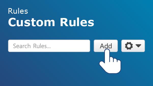 Illustration of Geotab's custom rules interface