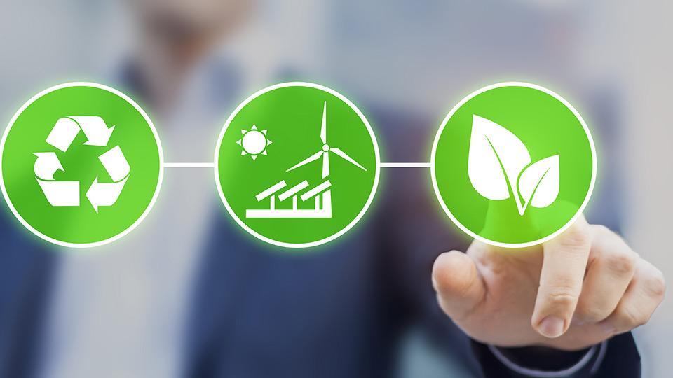 Three symbols for sustainability.
