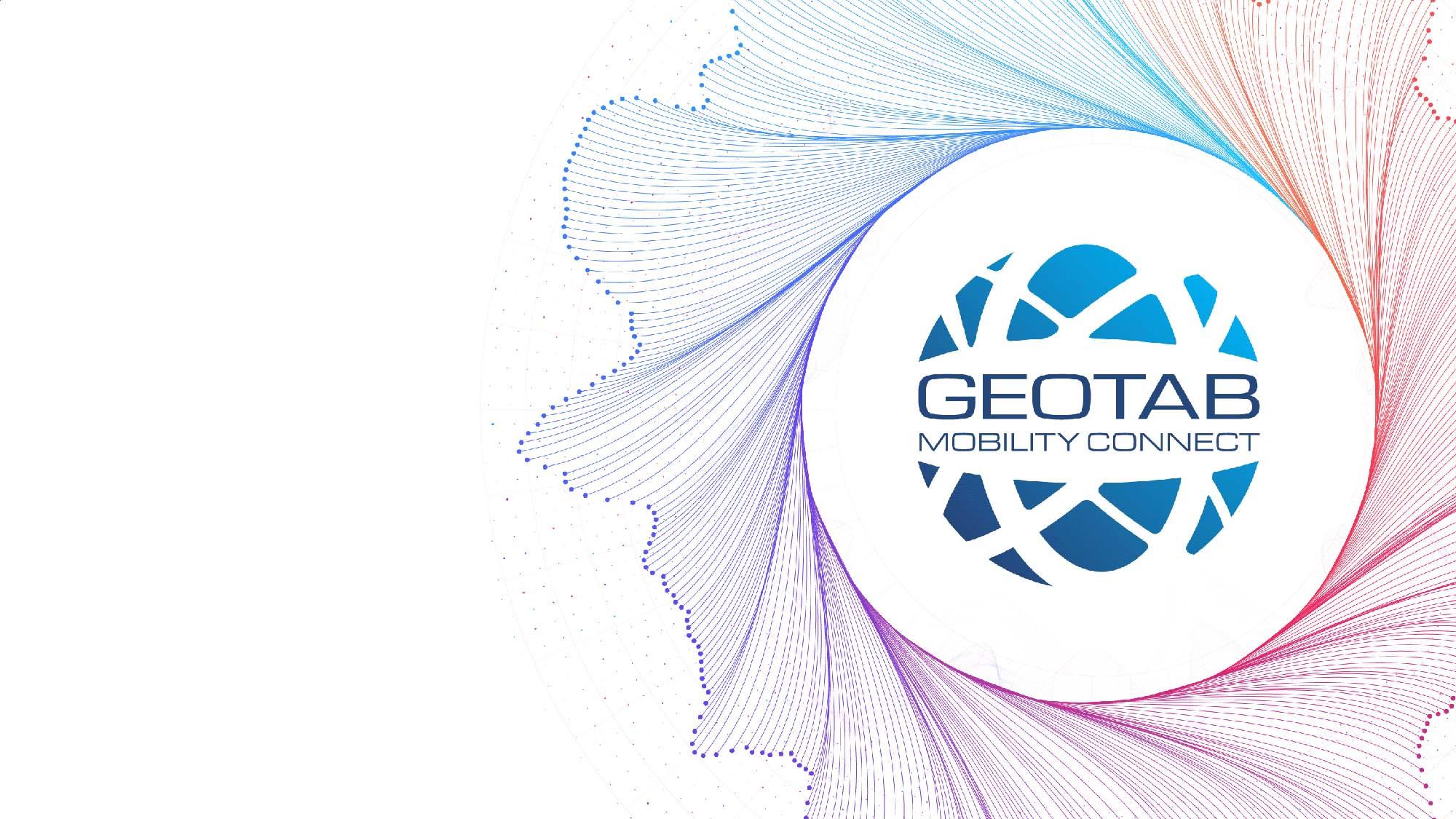 Geotab Mobility Connect Logo auf weißem Hintergrund