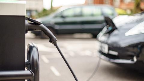 EV Vehicle on charge