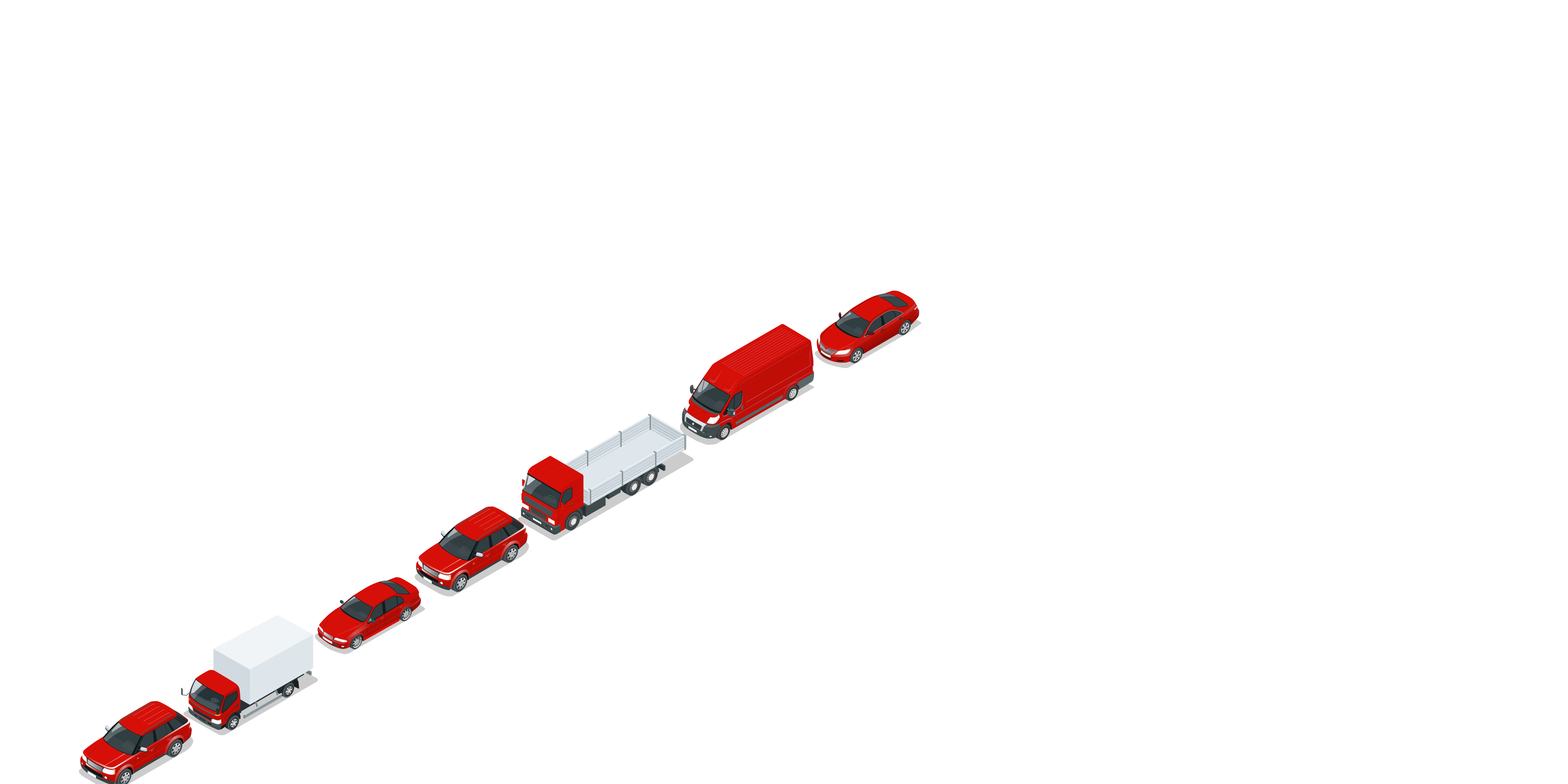A lane of slow-moving, congested traffic