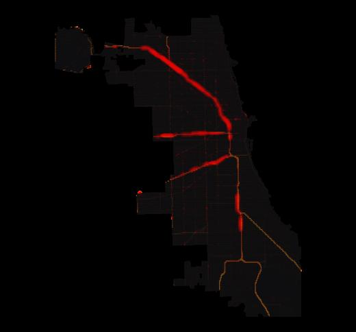 Chicago temperature map