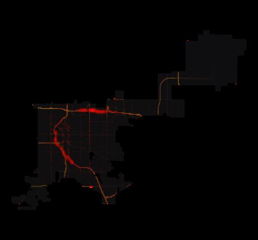 Denver temperature map