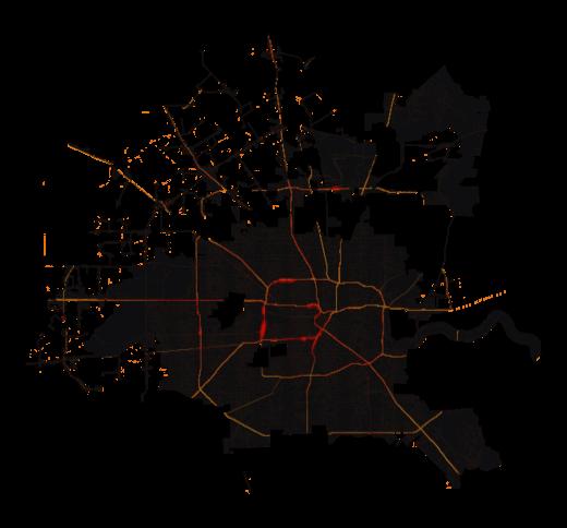 Houston temperature map