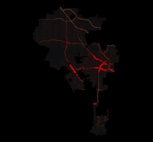 Los Angeles temperature map