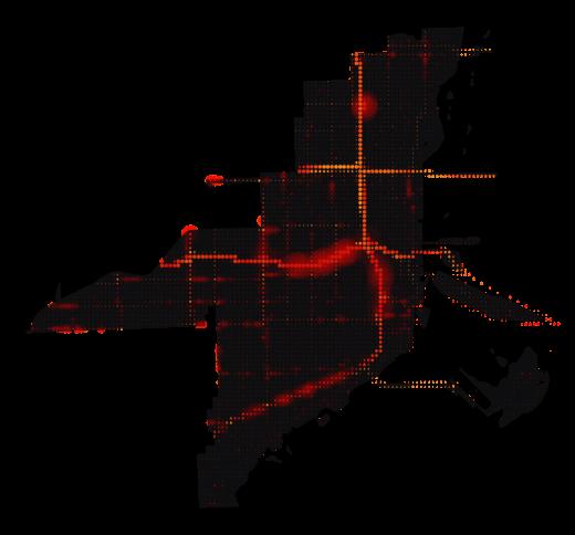 Miami temperature map