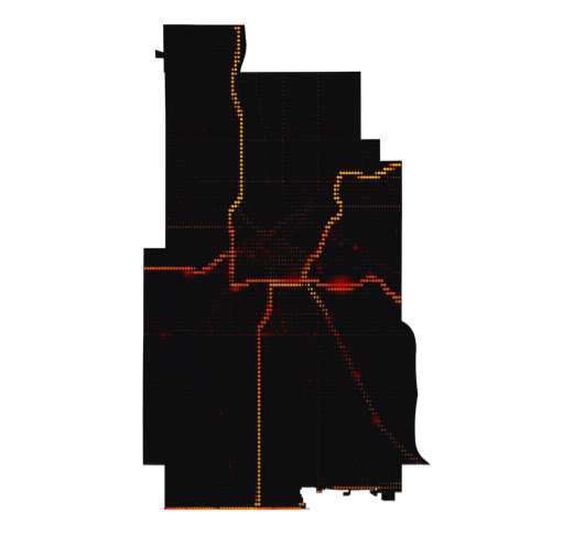 Minneapolis temperature map
