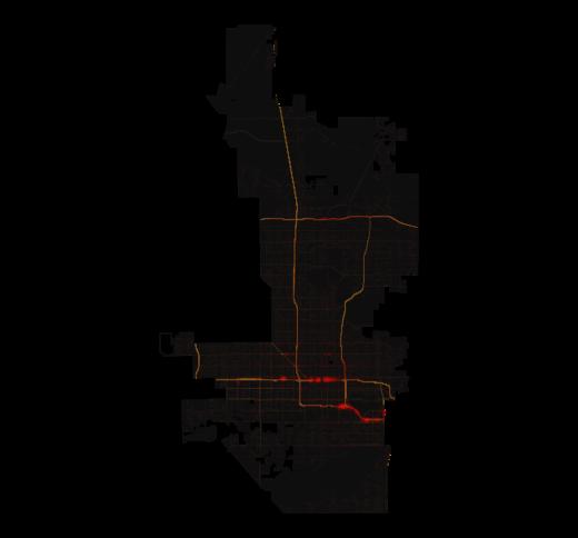 Phoenix temperature map