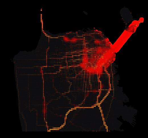 San Francisco temperature map